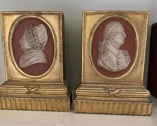 George and Martha Washington bookends.