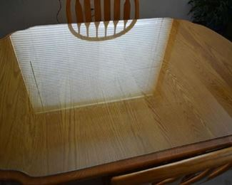 TABLE TOP W/GLASS
