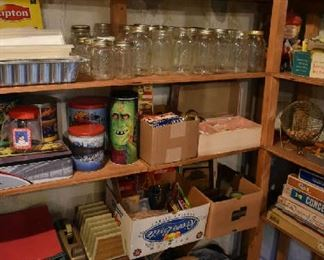 CANNING JARS, HOUSEHOLD
