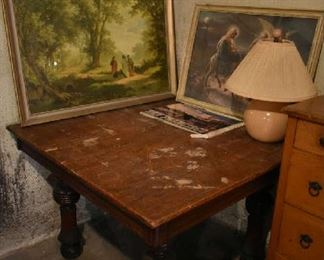 TABLE, WALL ART