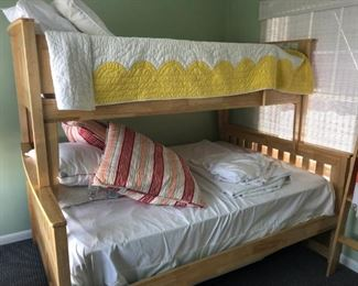 Nearly new bunk bed set by Night & Day Furniture, Vancouver WA. Twin on top; double on bottom