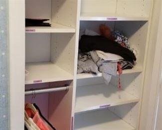 Built-in closet system
