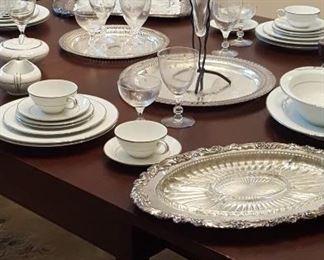 Silverplate and Noritake china