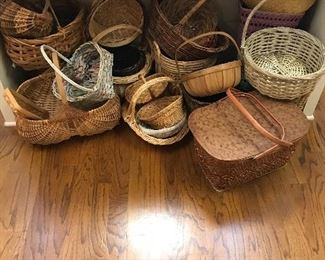 Some of the many baskets