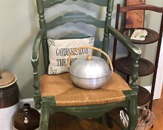 Rush seat arm chair