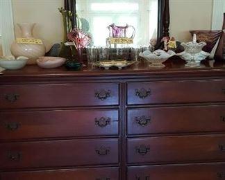 Mahogany eight drawer chest