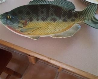 Large fish platter by Lefton