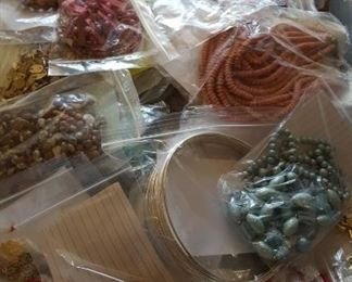 Some of the many bags of costume jewelry