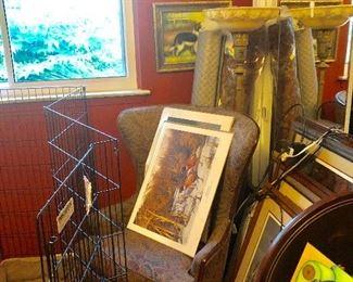 Lots of art including vintage Louis ICART prints mayfield Parrish large Daybreak