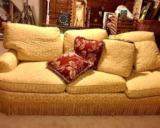 GREAT MXM 1840's-1949's fringed couch