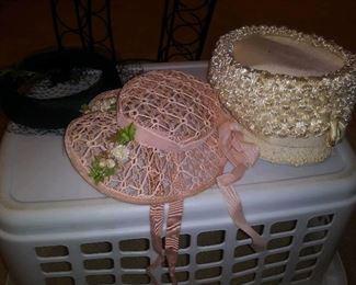Vintage hats including Stetson