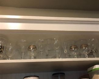 lots of stemware perfect for showers and weddings