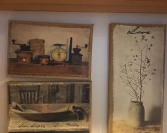 Beautiful farmhouse primitive still life art work