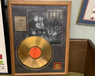Elvis Gold record