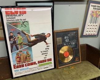 Elvis framed poster