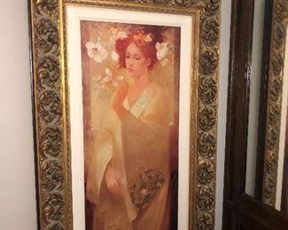 Framed Giclees  Artist proof By Artist  Felix Mas  Set of 4 seasons