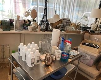 tons of decorator items and salon goods