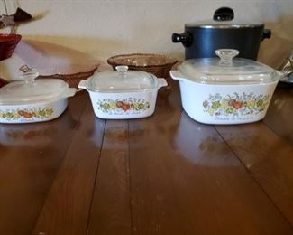 Corning Ware.  Yes, you can use them in them in your microwave for Corn