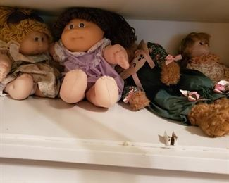 Cabbage Patch dolls.  Their butts have Xavier Roberts Signature.  How Nice.  Makes me want to get a Tatoo