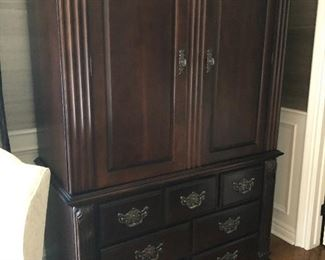 Tall Armoire by Bernhardt - moves as 2 pieces