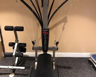 Bow-flex machine and leg extension