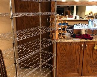 Wine rack and bar accessories