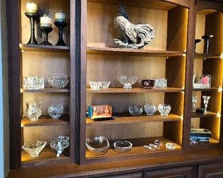 Wonderful small Waterford vases and dishes, iron candle sticks and bowls and lots of great objects of art for gifts