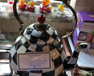 Large MacKenzie Childs teapot.