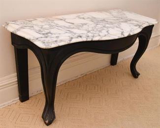 Low Accent Table with Marble Top