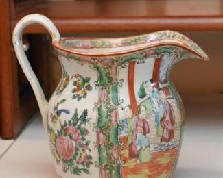 Vintage Famille Rose Porcelain Pitcher