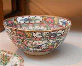 Vintage Famille Rose Porcelain Bowl