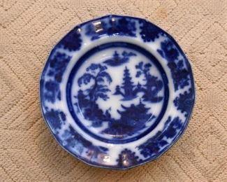 Antique Flow Blue Plate