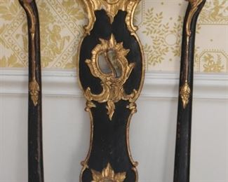 Set of 4 Antique Chairs with Gilt Detail