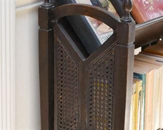 Vintage Caned Book Shelf / Rack