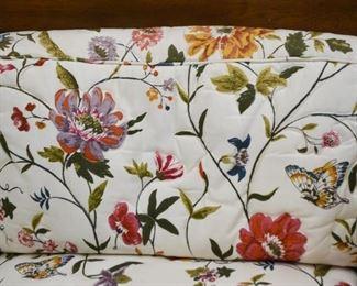 Floral Upholstered Sofa / Loveseat