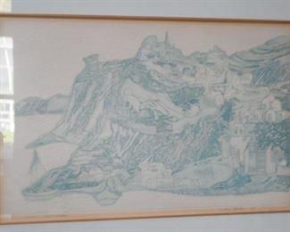 Framed Artwork / Print, Signed