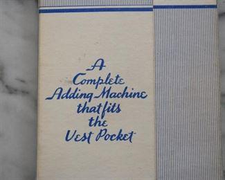 Vintage Vest Pocket Adding Machine