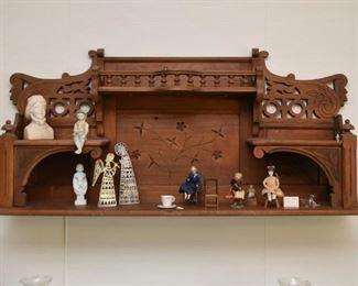 Antique Victorian Wall Shelf / Curio