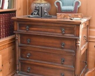 Unique File Cabinet (Front drawers are false, cabinet opens on the side)