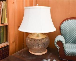 Crystal / Cut Glass Table Lamp