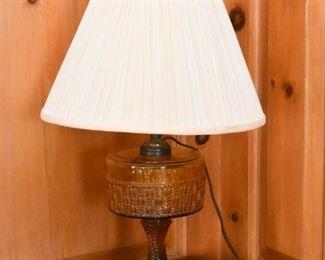 Modified Carnival Glass Lamp