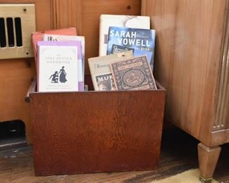 Primitive Wood Box, Books