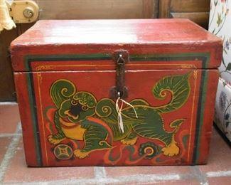 Chinese Painted Wood Box