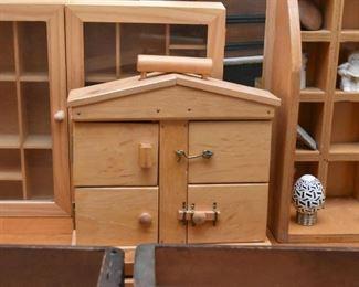 Various Wood Boxes / Display Curios