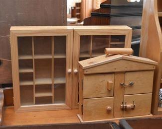 Various Wood Boxes / Display Curios Various Wood Boxes
