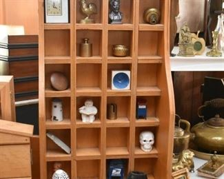 Wood Display Curio / Cubbies, Miniatures