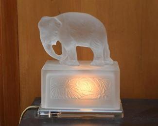 Glass Elephant Accent Lamp