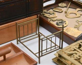Brass Miniature Bed Frame