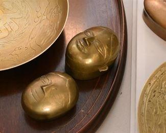 Brass Trinket Boxes