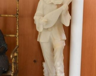 Alabaster Musician Statue